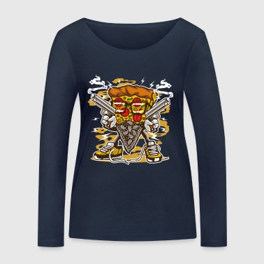 Pizza Gangster - T-shirt manches longues bio Stanley & Stella Femme