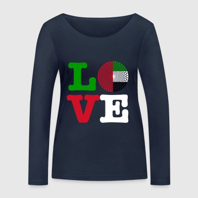 United Arab Emirates UAE United Arab Emirates Mandala - Women's Organic Longsleeve Shirt by Stanley & Stella
