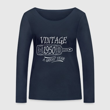 Vintage 1950 year of birth vintage - Women's Organic Longsleeve Shirt by Stanley & Stella