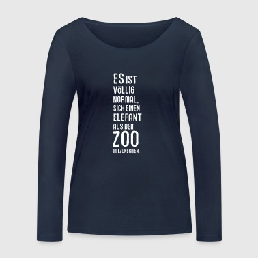 Elephant from the Zoo Africa Serengeti Trunk Thief - Women's Organic Longsleeve Shirt by Stanley & Stella