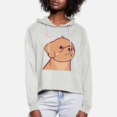 Cute Puppy - Charlie the Plush - Women's Cropped Hoodie