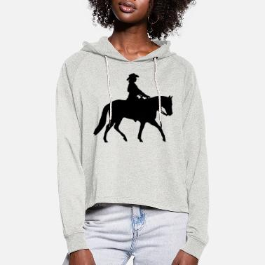Silhouette Ranch Riding Silhouette Westernreiterin - Frauen Cropped Hoodie
