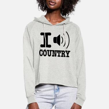Country I music country / I love country - Cropped hoodie til damer