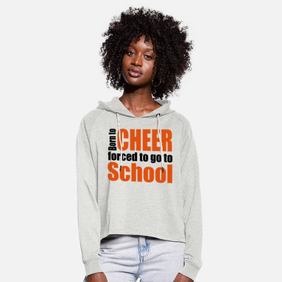 Cheerleader Gensere & hettegensere - cheerleader - Cropped Hoodie for kvinner lyngbeige