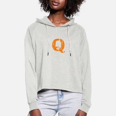 Wiederstand Q orange - Frauen Cropped Hoodie