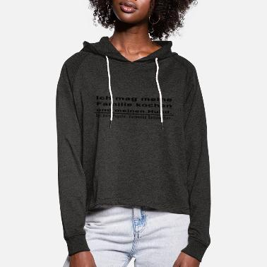 Punctuation Marks Punctuation marks - Women's Cropped Hoodie