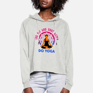 Esotericism Yoga esotericism - Women's Cropped Hoodie