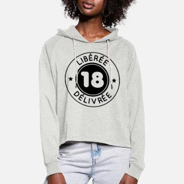 Primal Birthday 18 years - Released issued - Women's Cropped Hoodie