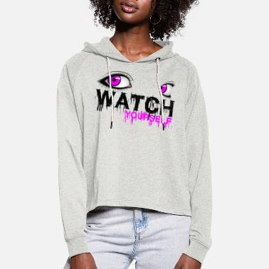 Illuminati Illuminati Watch yourselfe - Frauen Cropped Hoodie