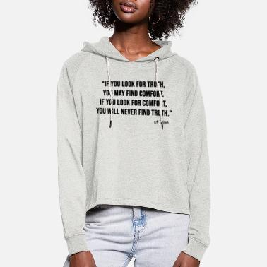LOOK FOR TRUTH - Women's Cropped Hoodie