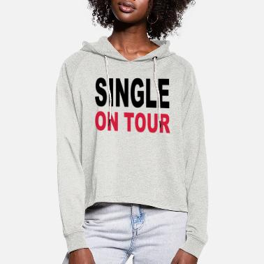 Single Single - Sweat à capuche court Femme