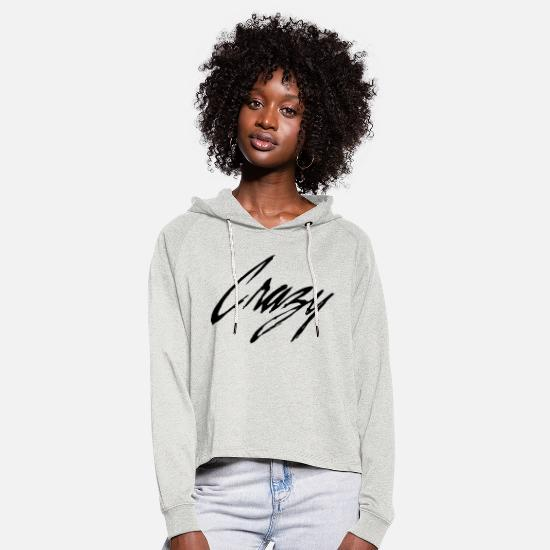 Crazy Eights Pullover & Hoodies - Crazy - Frauen Cropped Hoodie Beige meliert