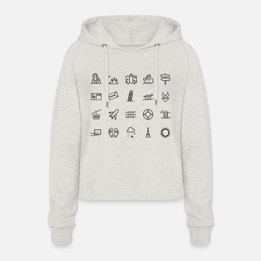 Icon Icons - Women's Cropped Hoodie