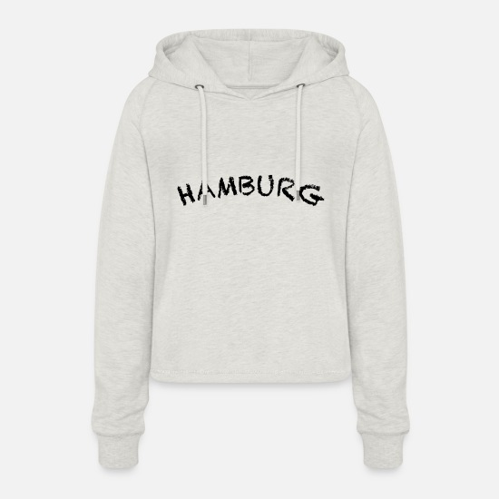 Hamburger Sweat-shirts - Hambourg - Sweat à capuche court Femme beige chiné