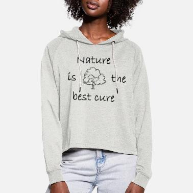 Attitude Nature - Women's Cropped Hoodie