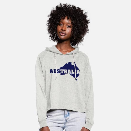 Australia Hoodies & Sweatshirts - Australia - Women's Cropped Hoodie heather oatmeal