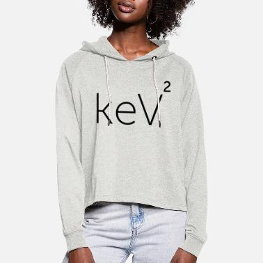 keV Squared (blacK) - Women's Cropped Hoodie