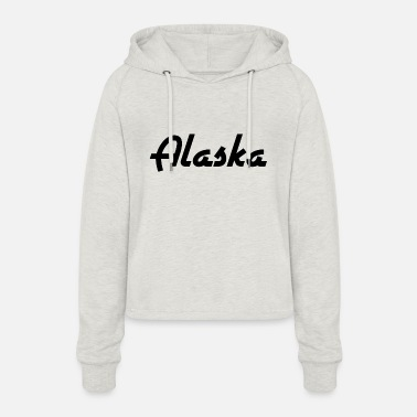 United States Alaska - State - United States - United States - Anchorage - Women's Cropped Hoodie