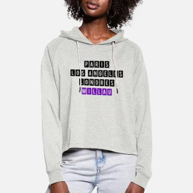 Millau, my city! - Women's Cropped Hoodie