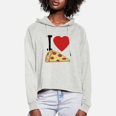Pizza Muss Weg I love Pizza - Frauen Cropped Hoodie