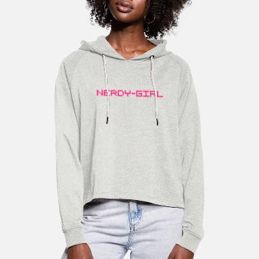 Shirtissimo nerdy girl nerd - Frauen Cropped Hoodie