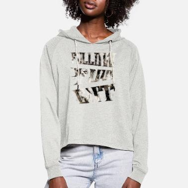 Lonely follow gut wolf 1 - Women's Cropped Hoodie