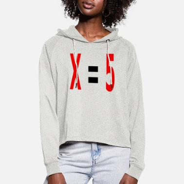 Variable Not Found x equals 5 v2 black - Women's Cropped Hoodie