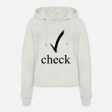 Check Mark check mark - Women's Cropped Hoodie