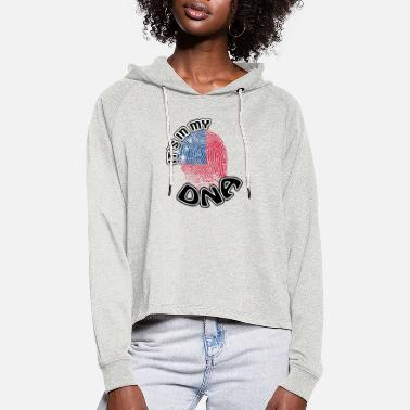 Gift Its in my dna dns roots Samoa - Women's Cropped Hoodie