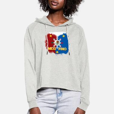 Philippines Filipina Mexico Mix DNA I gift idea - Women's Cropped Hoodie