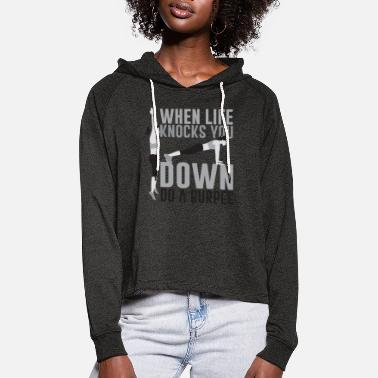 Lift Cross fit - Frauen Cropped Hoodie