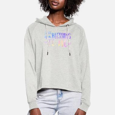 Sand Alt er en velsignelse for meg - Cropped Hoodie for kvinner