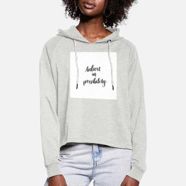 positivity - Sweat à capuche court Femme