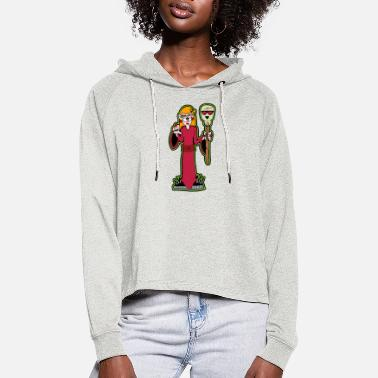 Gothic girl - Women's Cropped Hoodie