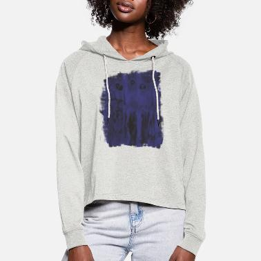 Background Background - Women's Cropped Hoodie