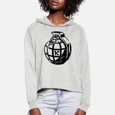 Political Issues Hand Grenade - Women's Cropped Hoodie