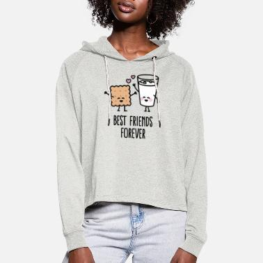 Bff Best friends forever - Sudadera cropped con capucha