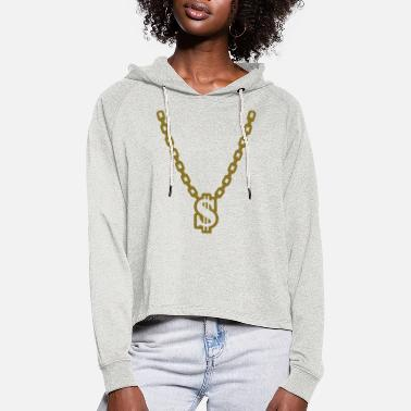 Necklace Necklace - Women's Cropped Hoodie