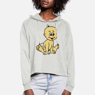 BABY051 - Vrouwen Cropped Hoodie