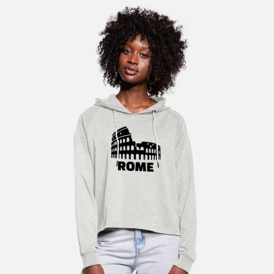 Rome Hoodies & Sweatshirts - Rome - Women's Cropped Hoodie heather oatmeal