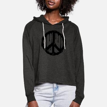 Ban The Bomb Toxic Peace - Women's Cropped Hoodie