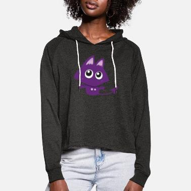 Little Creatures Little purple creature - Women's Cropped Hoodie