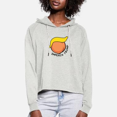 Trump Impeached Impeachment - Women's Cropped Hoodie
