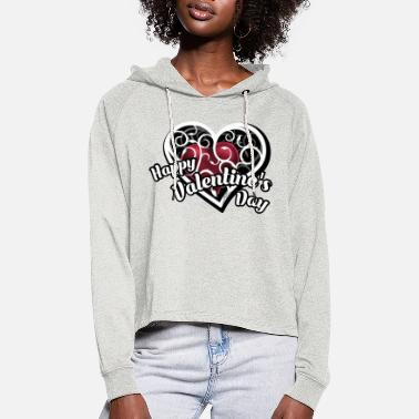 Happy Happy Valentines Day - Women's Cropped Hoodie