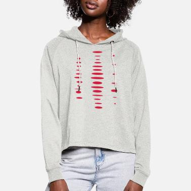 Cut Out Fashionable cut-outs - Women's Cropped Hoodie