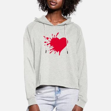 Love Hurts Love Hurts - Women's Cropped Hoodie
