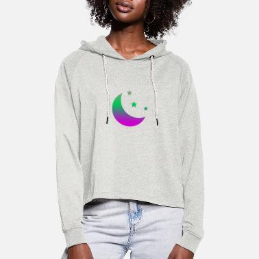 Moon Star Moon & stars - Women's Cropped Hoodie