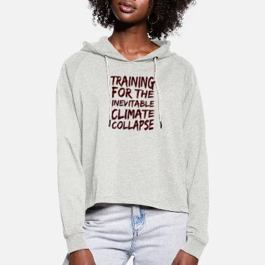 Demo Climate collapse gift ecology climate change - Women's Cropped Hoodie