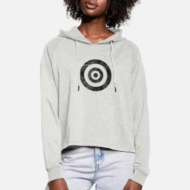 target_of_desire_shirt_gr - Women's Cropped Hoodie