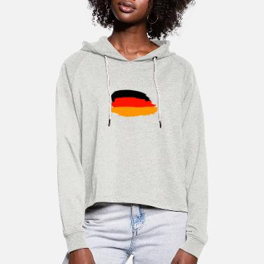Germany design - Women's Cropped Hoodie